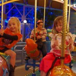 Braylee and Marin on another carousel.