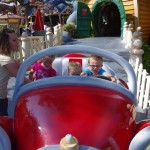 The kids in Mickey's Car. Kallen isn't quite tall enough